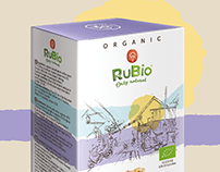 RuBio Green Coffee Packaging Design