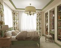Bedroom, modern provence