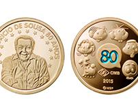 Moeda Comemorativa Mauricio de Sousa 80 anos (Coin)