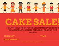 WONDER Foundation Cake & Coffee Posters