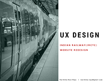 UX DESIGN - Indian Railways Website Redesign