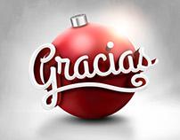 Tarjeta fin de año - Gracias!