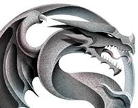 Dragon Ying Yang Illustration