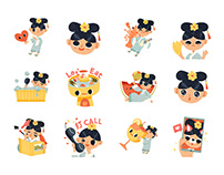 Google Stickers Busy Princess