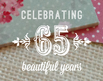 65th birthday invitation | Penelope List