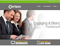 Certain Inc Website Redesign