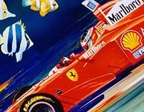 Monaco 1997 in the Rain