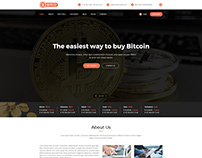 Bitcoin Cryptocurrency PSD Template
