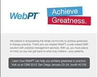 WebPT Achieve Greatness Campaign