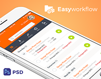 Easyworkflow Free Mobile App PSD