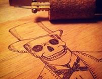 Cartola - Skull - Pyrography