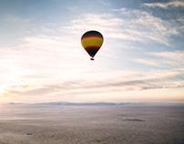 Floating over the Dubai desert