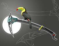 Toucan inspired climbing Axe