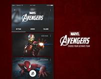 Marvel Avengers - App Animation Concept