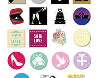 Wedding Social Media Stickers