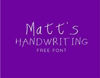 Matt's Handwriting