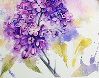 Magic time of lilac