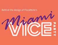Behind the Design: FN Miami Vice Party & Collateral