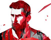 Messi key visual for Alfa Bank