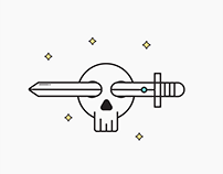 Simple Illustration - Skeleton & Sword