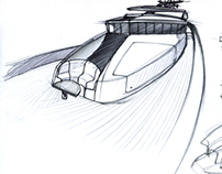 55m Motoryacht Sketches