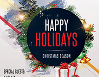 Happy Holidays – Free Christmas PSD Flyer