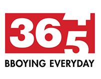 Rediseño del logo de 365 entrenando bboying