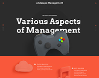 Landscape Management - Website | Graphics | ux | design