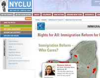 NYCLU Immigration Project - Student Work