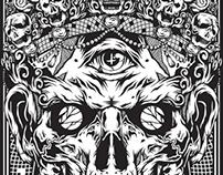 Sacred Skull T-shirt X GSTW streetwear