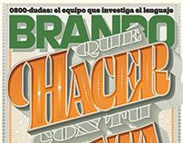 BRANDO Mag —cover lettering