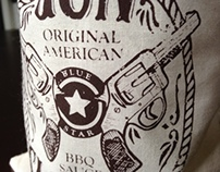 Gunslinger Barbeque Sauce Package Design