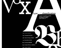Vox typestyle classification poster