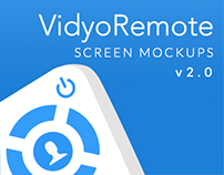VidyoRemote: Screen Mockups for iOS v2.0