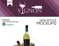 Vignon - Wine Bottle Mockups