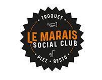 "Logo pour le bar restaurant ""le Marais Social Club"""