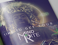 Print Ad Designs for MINDRITE PDX Cannabis Retail Shop