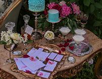 """Комплект Свадебного приглашения для фотопроекта""""Пионы"""""""
