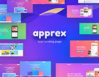 Apprex - App Landing page
