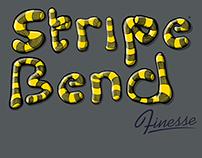 Stripe Bend Finesse Typeface Design.