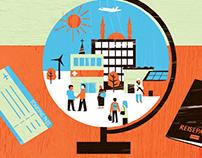 Editorial illustrations for mercator foundation