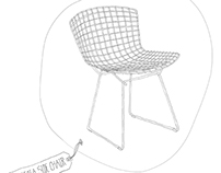 bertoia chair pattern design