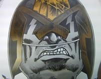 Rufus Dayglo & CCA 2013 / Judge Dredd / screen prints