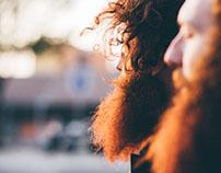 Redhead bearded twins