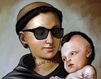 Tattooed Saint Anthony
