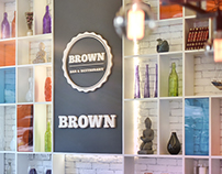 BROWN - Bar & Restaurant / Logo & Menu Design