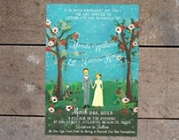 Hand Painted Invitations