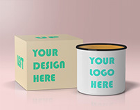 Free Enamel Mug Mock-Up