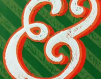 Ampersand Woodcut Print
