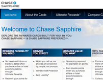 CHASE SAPPHIRE // Website Design